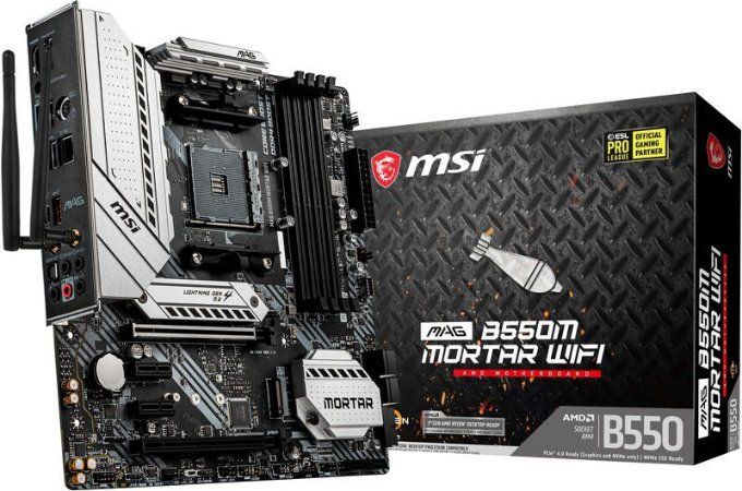 PLACA MÃE MSI MAG B550M MORTAR WIFI 6 802.11AX DDR4 AM4 M-ATX
