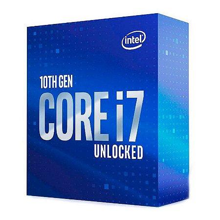 PROCESSADOR INTEL CORE I7-10700K OCTA-CORE 3.8GHZ (5.1GHZ TURBO) 16MB CACHE LGA1200 - BX8070110700K