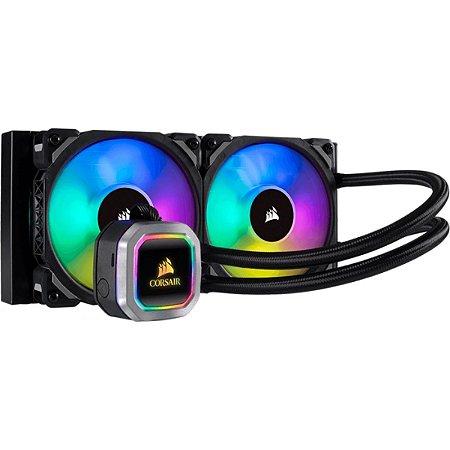 WATER COOLER CORSAIR H100I PLATINUM, RGB 240MM, INTEL-AMD - CW-9060039-WW