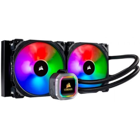 WATER COOLER CORSAIR PLATINUM H115I, RGB 280MM, INTEL-AMD - CW-9060038-WW