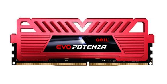 MEMÓRIA DDR4 GEIL EVO POTENZA, 8GB 3200MHZ, RED - GAPR48GB3200C16ASC