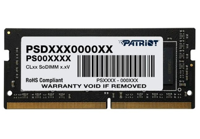 MEMORIA RAM PARA NOTEBOOK PATRIOT 4GB, DDR4, 2666MHZ, 1X4GB - PSD44G266681S