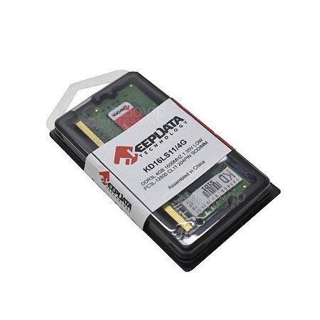 MEMÓRIA NOTEBOOK KEEPDATA 4GB, 1600MHz, DDR3L - KD16LS11/4G