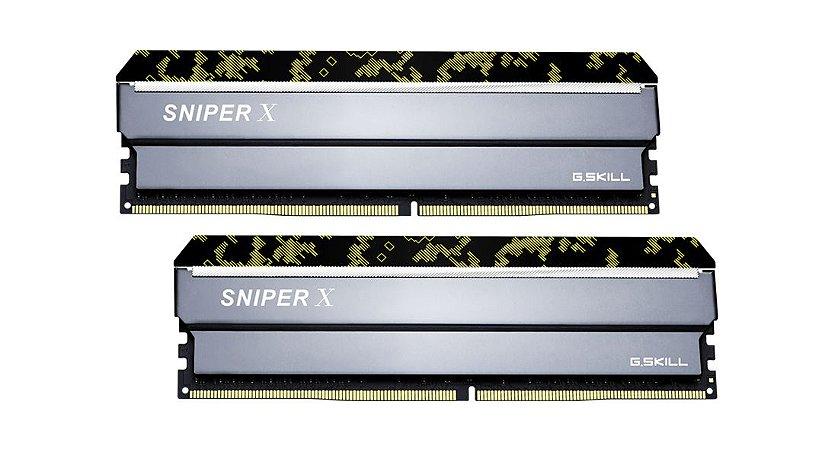 MEMÓRIA G.SKILL 16 GB (2 X 8 GB) SNIPER X SERIES DDR4 PC4-21300 2666 MHZ - F4-2666C19D-16GSXK