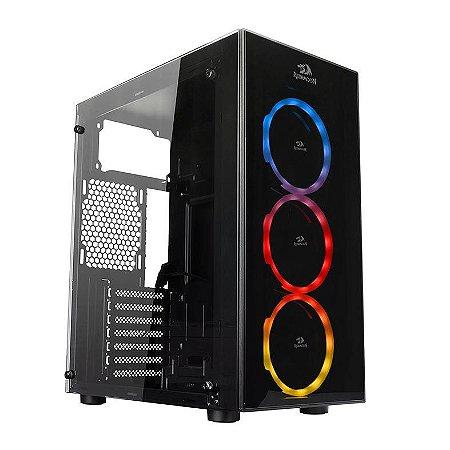 GABINETE GAMER REDRAGON THUNDERCRACKER RGB - GC-605
