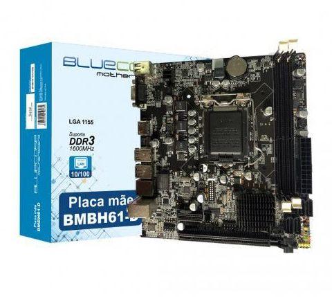 PLACA MÃE 1155 2ª GERAÇÃO BLUECASE, DDR3, 16GB, VGA, HDMI - BMBH61BCASE