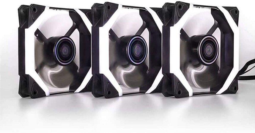 KIT 3 COOLER GARA GABINETE 120MM RGB + FITA LED + CONTROLE DEX - DX-123X