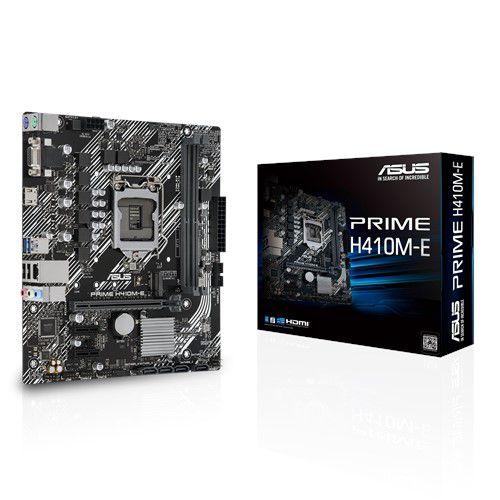 PLACA-MÃE ASUS PRIME H410M-E, INTEL LGA 1200, MATX, DDR4 - 90MB13H0-C1BAY0