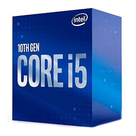 PROCESSADOR INTEL CORE I5 10400F HEXA-CORE 2.9GHZ (4.3GHZ TURBO) 12MB CACHE LGA1200 - BX8070110400F