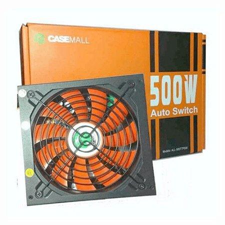FONTE DE ALIMENTAÇÃO CASEMALL 500W ATX12V V2.3 AUTO SWITCH ALL-500TTPSW4