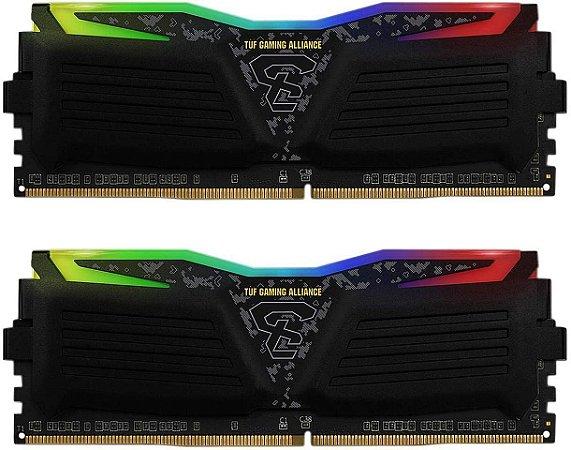 MEMÓRIA 16GB (2x8GB) DDR4 3000MHZ GEIL SUPER LUCE TUF GAMING ALLIANCE  RGB - GALTS416GB3000C16ADC