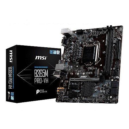PLACA MAE MSI B365M PRO-VH DDR4 SOCKET LGA1151 CHIPSET INTEL B365
