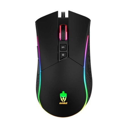 MOUSE GAMER EVOLUT SKADI EG106 RGB LED 4800DPI
