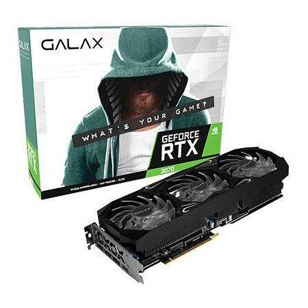 PLACA DE VIDEO GALAX GEFORCE RTX 3070 SG 8GB GDDR6 1-CLICK OC 256-BIT - 37NSL6MD1GNA