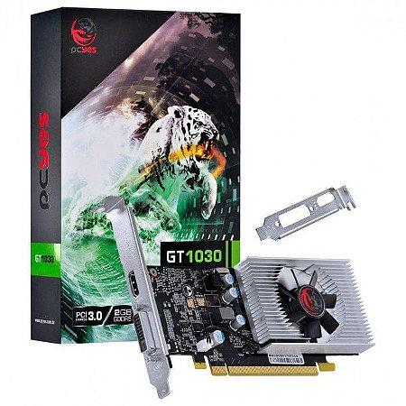 PLACA DE VIDEO NVIDIA GEFORCE GT1030 2GB PCYES GDDR5 64BITS - PP10302048DR564
