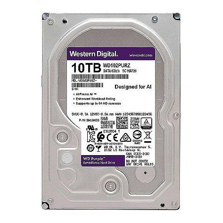 """HD WD PURPLE 10TB 3.5"""" SATA III 6GB/S - WD102PURZ"""