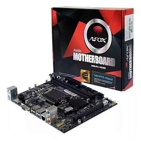 PLACA MÃE AFOX H110 DDR4 LGA1151 - IH110-MA4