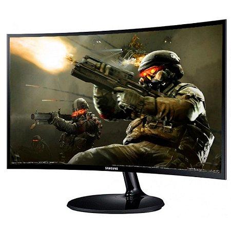 MONITOR GAMER SAMSUNG CF390 CURVO 24 POL, FULL HD, HDMI/VGA - LC24F390FHL