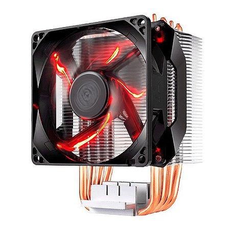 COOLER PARA PROCESSADOR COOLER MASTER HYPER H410R 92MM LED VERMELHO - RR-H410-20PK-R1