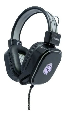 HEADSET GAMER HAYOM COM MICROFONE, USB, P2, LED – HF2206