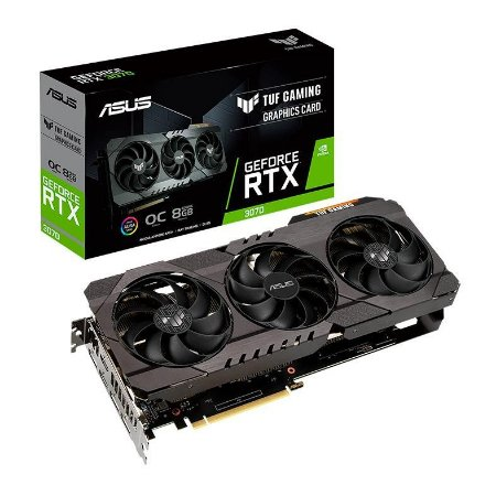 PLACA DE VIDEO ASUS GEFORCE RTX 3070 OC 8GB GDDR6 TUF GAMING 256-BIT - TUF-RTX3070-O8G-GAMING