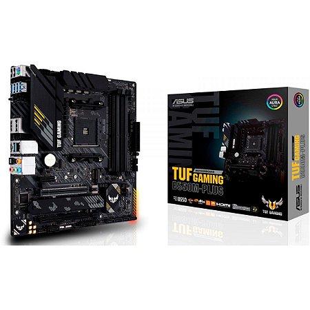 PLACA MÃE ASUS TUF GAMING B550M-PLUS, CHIPSET B550, AMD AM4, MATX, DDR4