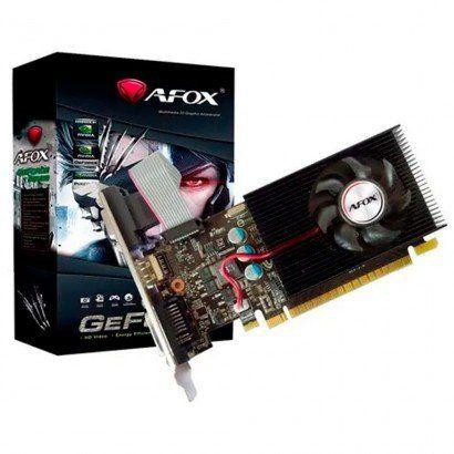 PLACA DE VIDEO AFOX GEFORCE GT 710 1GB DDR3 64 BITS DVI/HDMI/VGA - LOW PROFILE - AF710-1024D3L8-V2