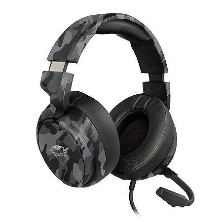 HEADSET GAMER TRUST GXT 433K PYLO MULTIPLATAFORMA BLACK CAMO - T23939 + BRINDE
