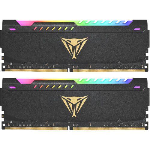 MEMÓRIA DDR4 PATRIOT VIPER STEEL RGB, 32GB (2X16GB) 3200MHZ, BLACK - PVSR432G320C8K