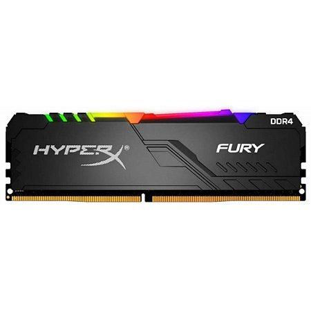 MEMÓRIA DDR4 KINGSTON HYPERX FURY RGB, 8GB 3200MHZ, BLACK - HX432C16FB3A/8