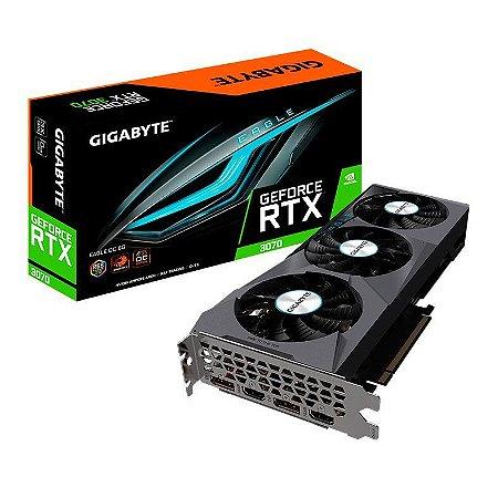 PLACA DE VIDEO GIGABYTE GEFORCE RTX 3070 EAGLE OC 8GB GDDR6 256-BIT - GV-N3070EAGLE OC-8GD