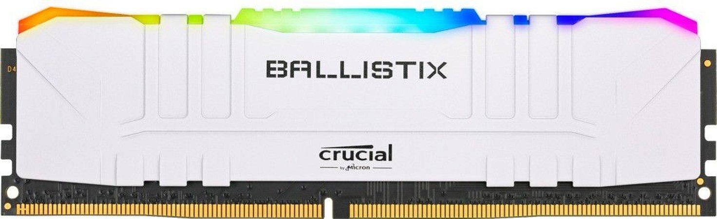 MEMORIA CRUCIAL BALLISTIX RGB, PC, 8GB, DDR4, 3000MHZ - BL8G30C15U4WL
