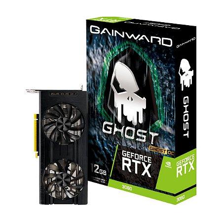 PLACA DE VÍDEO GAINWARD GEFORCE RTX 3060 GHOST OC, 12GB, GDDR6, 192BIT - NE63060T19K9-190AU