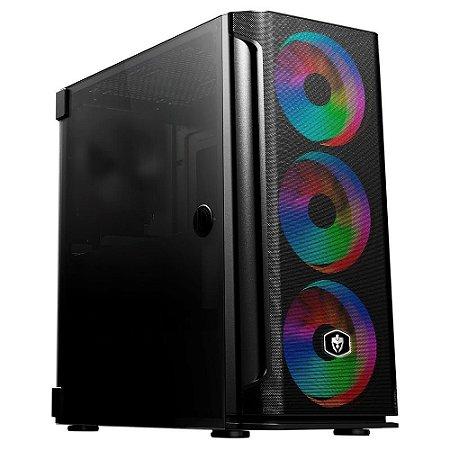 COMPUTADOR GAMER RYZEN 5 3500, 16GB DDR4, NVME 256GB, HD 1TB, GTX 1660 SUPER 6GB, 600W REAIS