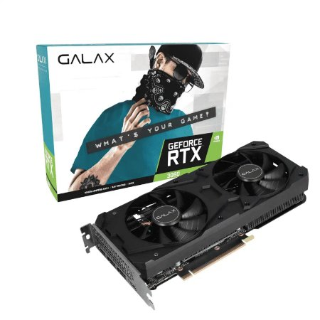 PLACA DE VÍDEO GALAX GEFORCE RTX 3060 (1-CLICK OC) 12GB GDDR6 192BITS - 36NOL7MD1VOC