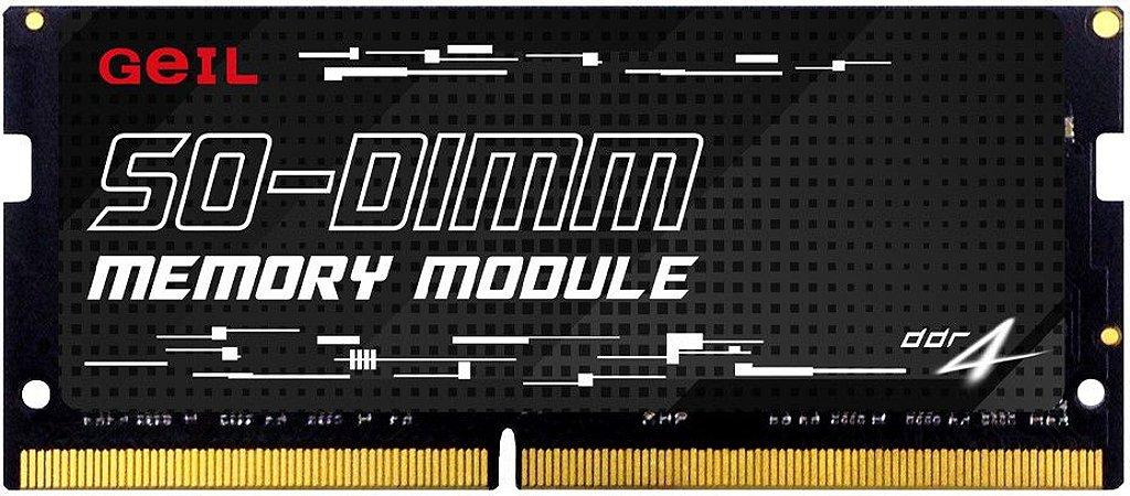 MEMÓRIA GEIL NOTEBOOK 16GB 2666MHz DDR4 SODIMM - GS416GB2666C19SC