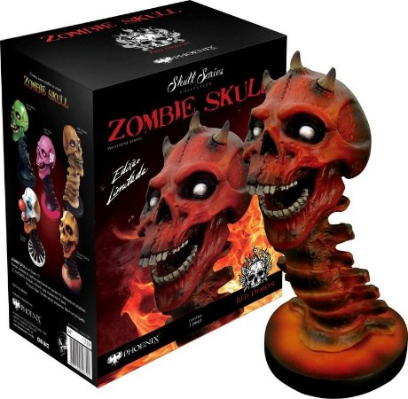 Estátua Zombie Skull Red Demon (Vermelho): Art Scale Edição Limitada Escala 1/3