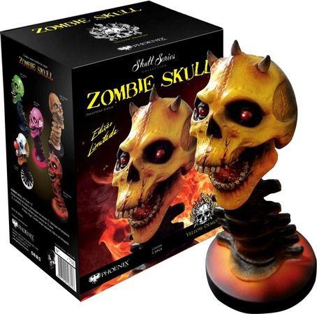 Estátua Zombie Skull Yellow Demon: Art Scale Edição Limitada Escala 1/3