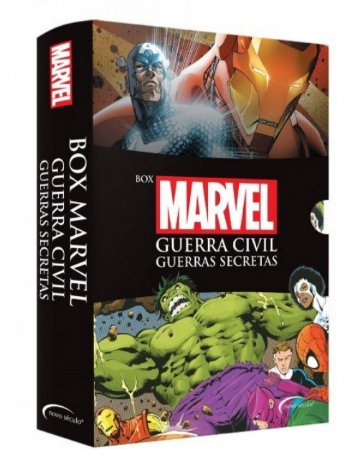 Box Marvel Guerra Civil - Guerras Secretas