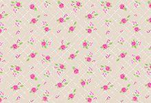 FELTRO ESTAMPADO MEWI - Floral Provence CREME - 35x35cm