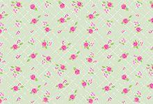 FELTRO ESTAMPADO MEWI - Floral Provence VERDE - 35x35cm