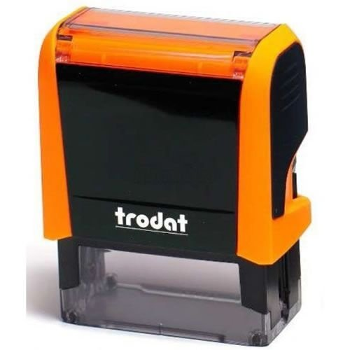 Carimbo Trodat Printy 4911 4.0 - Laranja Neon