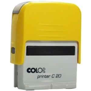Carimbo Colop Printer 20 - Amarelo