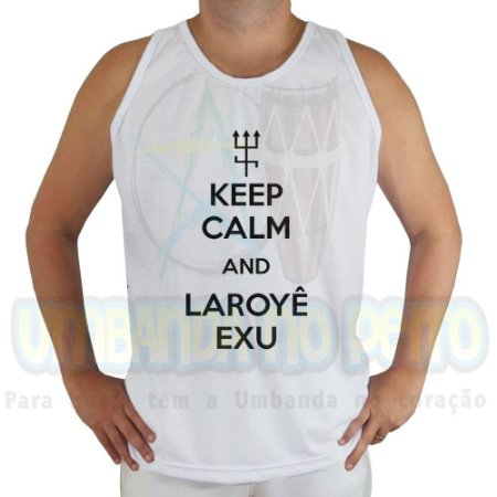 Regata Keep Calm and Laroyê Exu