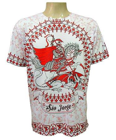 Camiseta Branca Coroa de São Jorge Viscose