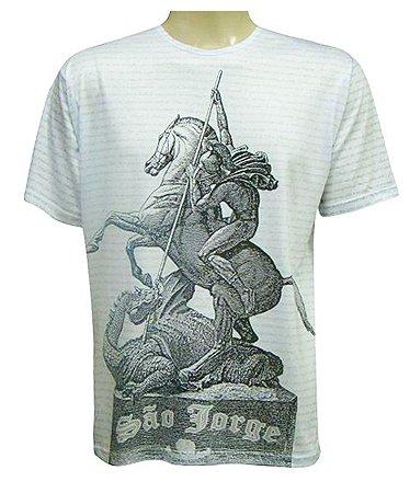 Camiseta Branca São Jorge Dorê Viscose