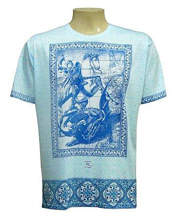 Camiseta São Jorge Azulejo Viscose