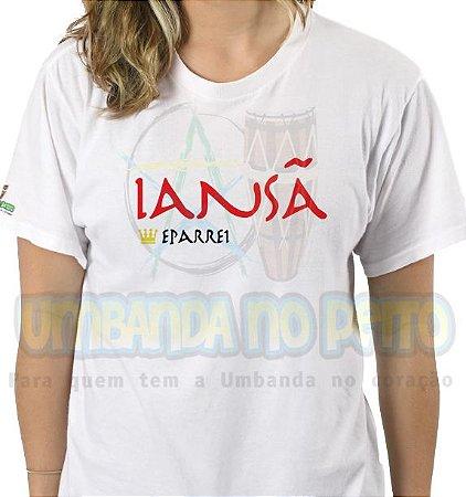 Camiseta Rainha Iansã (estampa vermelha)