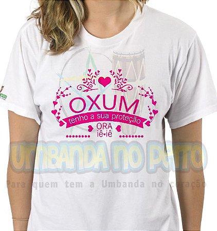 Camiseta Oxum Tenho a Sua Proteção