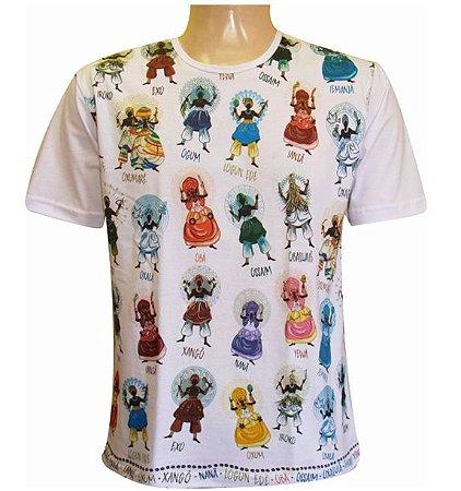 Camiseta Salve Os Orixás (100% algodão)